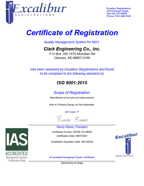ISO 9000:2008 Certificate Image